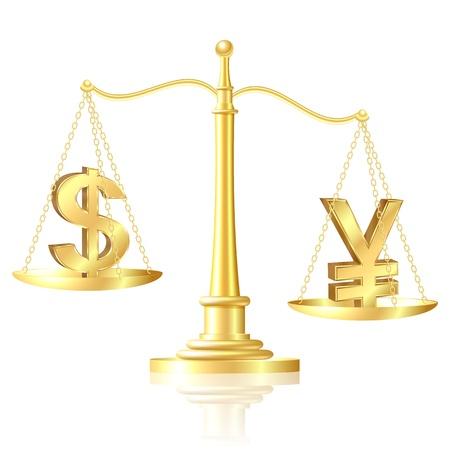 ungleichgewicht: Yen �berwiegt Dollar auf Skalen