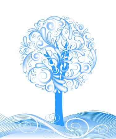 beautiful  winter tree design. illustration Stock Vector - 15928555