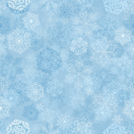 Seamless pattern with stylized snowflakes  Stock Vector - 16473298