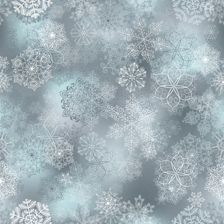 Seamless pattern with stylized snowflakes  Vector