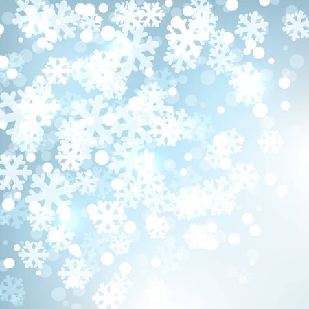 Background  with stylized snowflakes  Vector illustration Stock Vector - 16473296