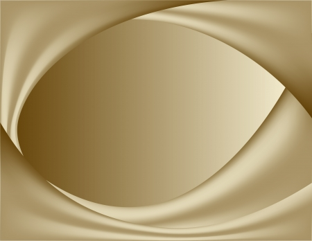 abstract gold background  wavy folds of silk  illustration Vector