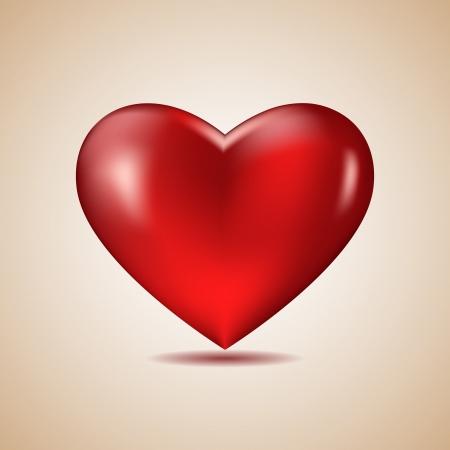 Big Red Heart Stock Vector - 17119835