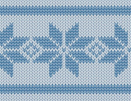 seamless knitted pattern with blue snowflakes  vector illustration Stock Vector - 17233546