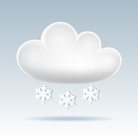 Cloud icon  Snow  Vector illustration Vector