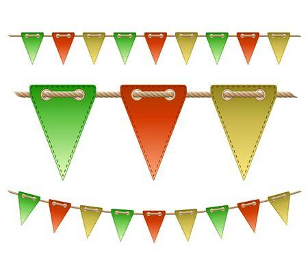 Festive flags on white background   Vector illustration Stock Vector - 17640389