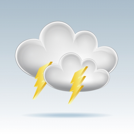 Cloud icon  Lightning illustration Stock Vector - 17800665
