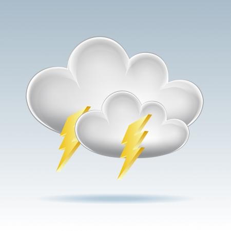 Cloud icon  Lightning illustration Stock Vector - 17800665