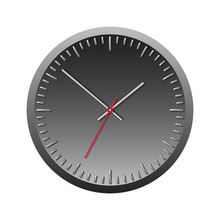 Black wall mechanical clock  Vector illustration Stock Vector - 17800672