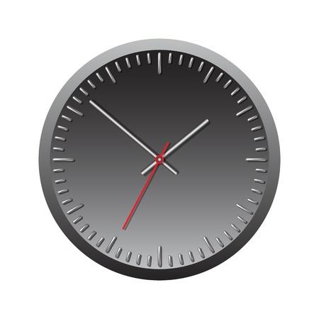 Black wall mechanical clock  Vector illustration Stock Vector - 17800671