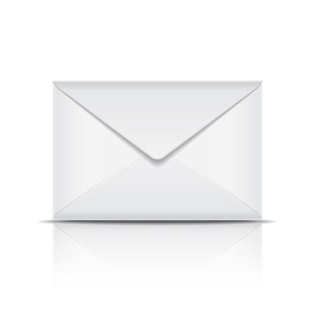 White envelope  Vector illustration
