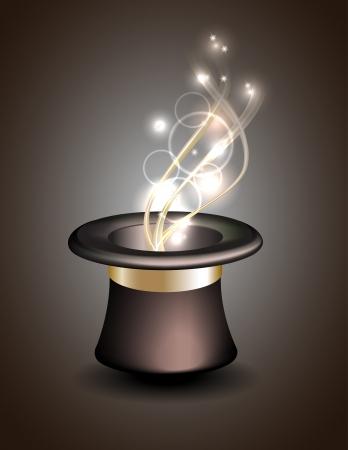 Magische hoed achtergrond Vector illustratie