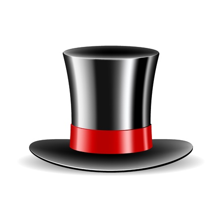 Cylinder magic hat isolated on white background  Vector illustration Vector