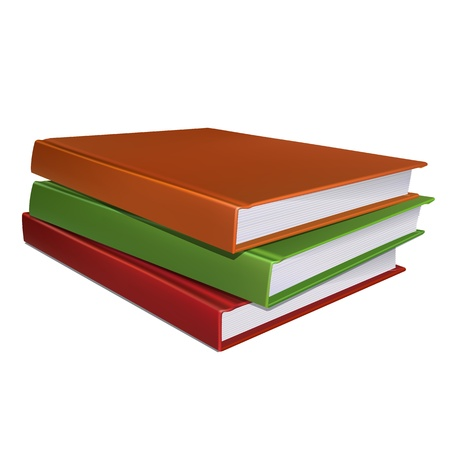 stack of papers: Stack of books  Vector illustration