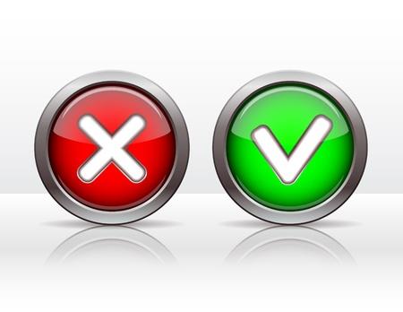 Check mark buttons  Vector illustration Stock Vector - 18713801