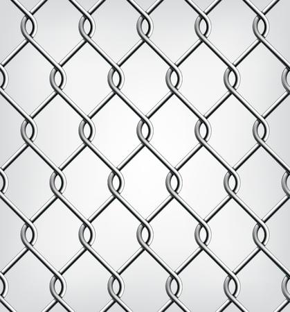 Seamless Chain Fence  Vector illustration Vector