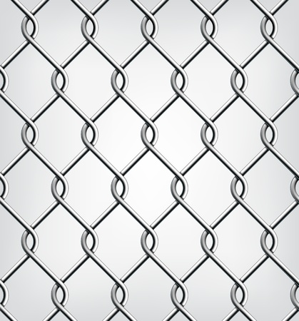 chained link: Seamless Chain Fence  Vector illustration