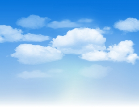 Blue sky with clouds  Vector background Stock Vector - 18991454