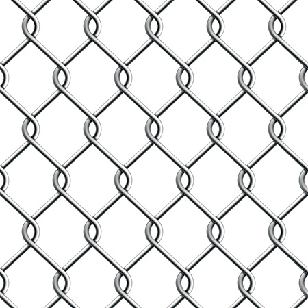 Seamless Chain Fence  Vector illustration Vector