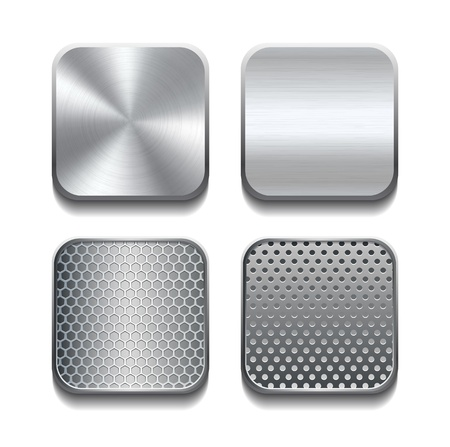 Apps-Metal-Ikone gesetzt Abbildung