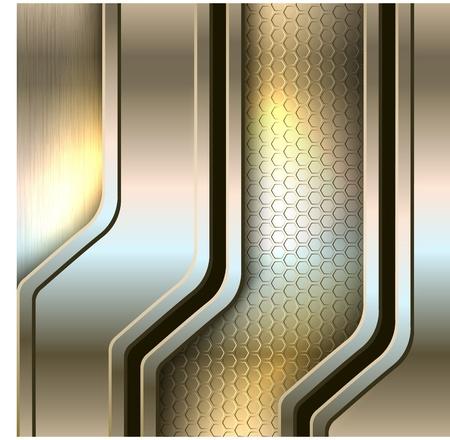 metallic banners: Abstract background, metallic banners illustration