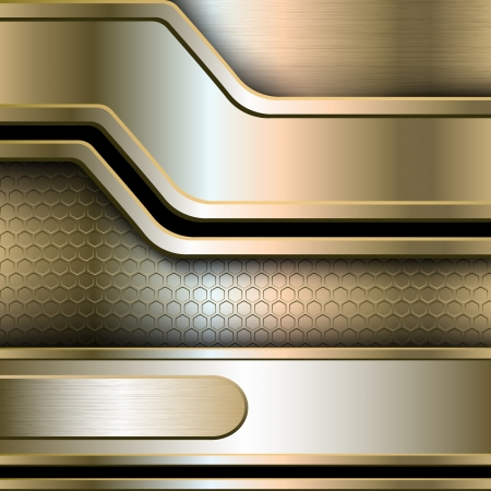 Abstract background, metallic banners illustration