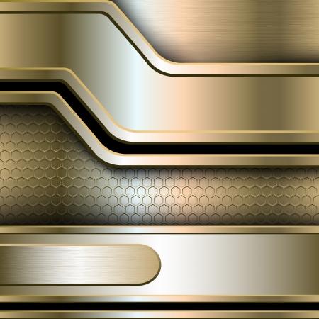 Abstrakt, metallische Banner-Abbildung