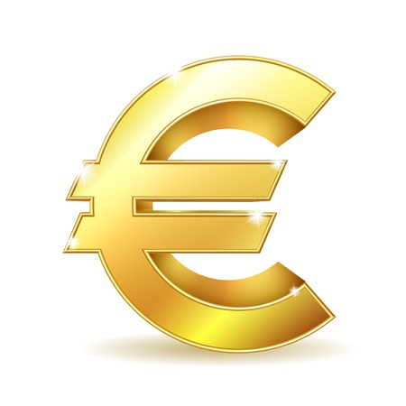 Gold sign euro currency  Vector illustration EPS10