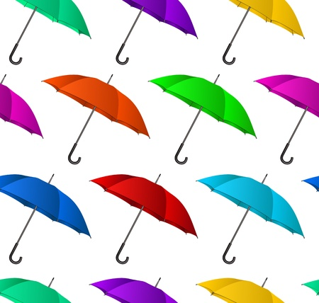 Seamless colorful umbrellas background  Vector illustration Vector