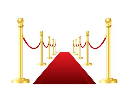 red Veranstaltung Teppich auf einem weißen Hintergrund isoliert Illustration
