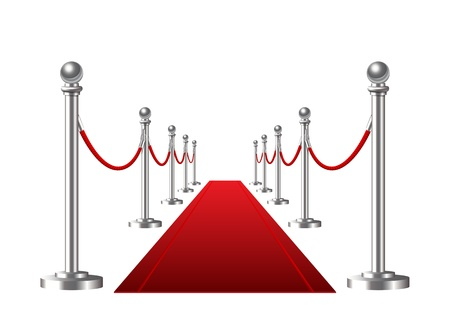 Red event carpet isolated on a white background  Vector illustration Illustration