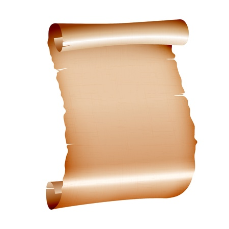 old blank scroll paper on white background  vector illustration Vector