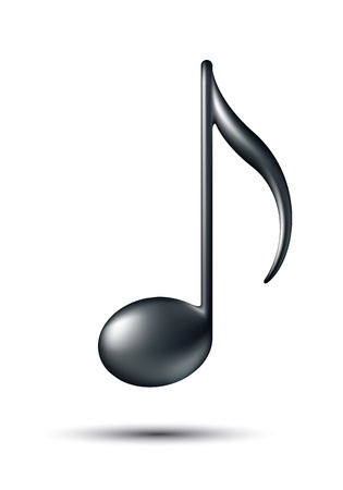 simbolos musicales: Music Note Sign Music icono ilustraci�n vectorial