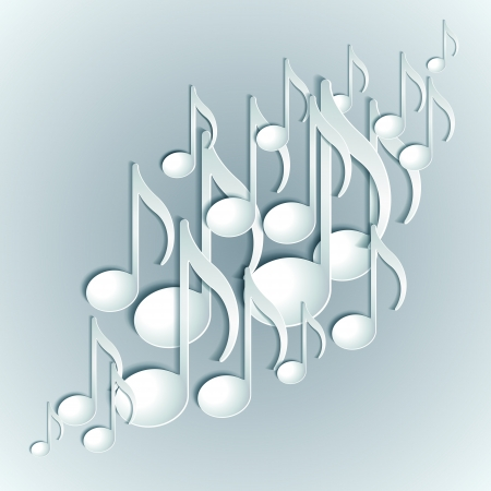 Music note background design  Vector illustration Stock Vector - 20057853