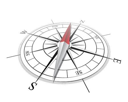 topografia: Br�jula Vector ilustraci�n