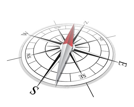 magnetic north: Compass  Vector illustration