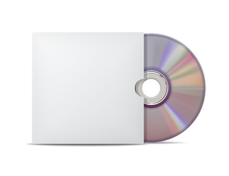 jewel case: Compact disk with cover illustration Illustration
