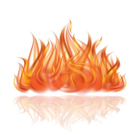 Feuer auf weißem Hintergrund Illustration Illustration