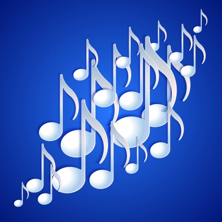 Music note background design illustration Stock Vector - 20276267
