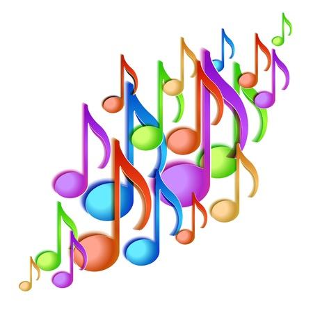 Music note background design illustration Stock Vector - 20276362