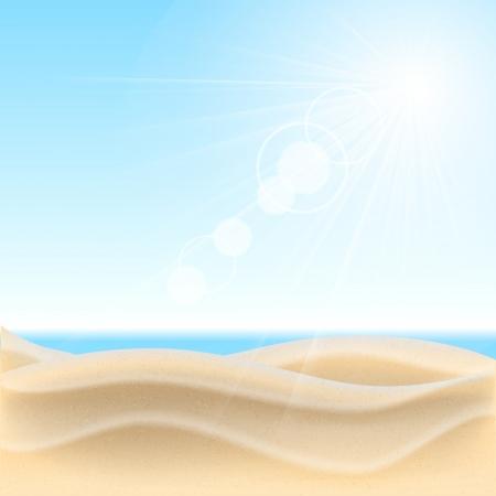 Sand beach background. Vector illustration. Illustration