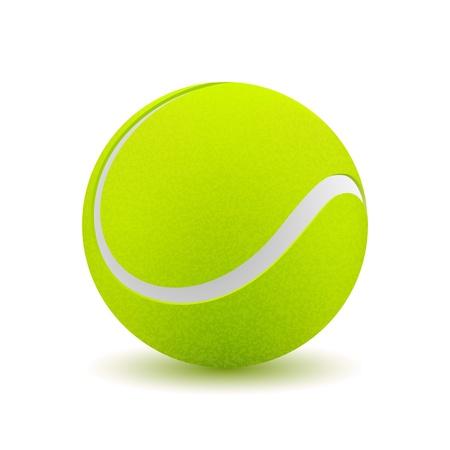 Tennisbal op witte achtergrond. Vector illustratie Stock Illustratie