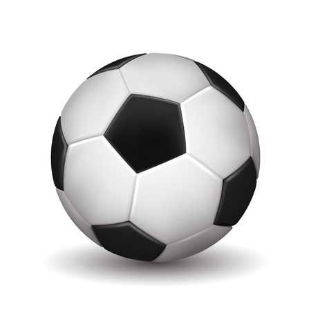 indoor soccer: Soccer ball isolated on white background. Vector illustration