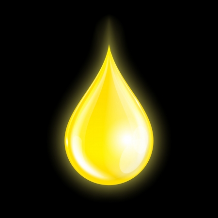 Drop of oil isolated on dark background. Vector illustration Vector