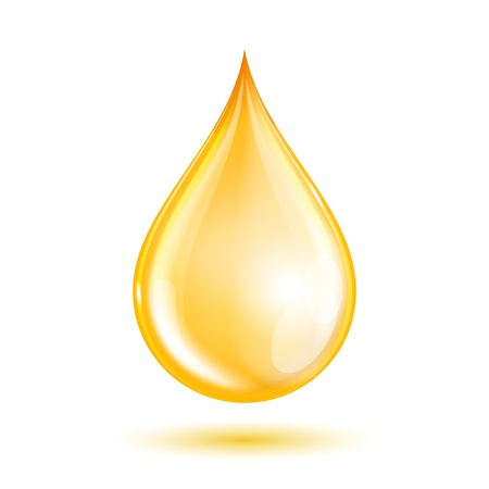 Druppel olie op een witte achtergrond. Vector illustratie Stock Illustratie