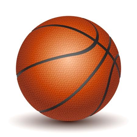 bola: Vector Basketball isolado em um fundo branco. Ilustra��o
