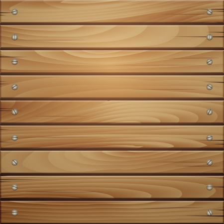 boarded: Wood plank brown texture background. Vector illustration