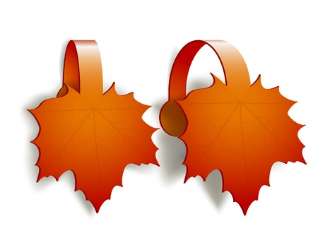 topped: Maple Leaves advertising wobblers isolated on white background
