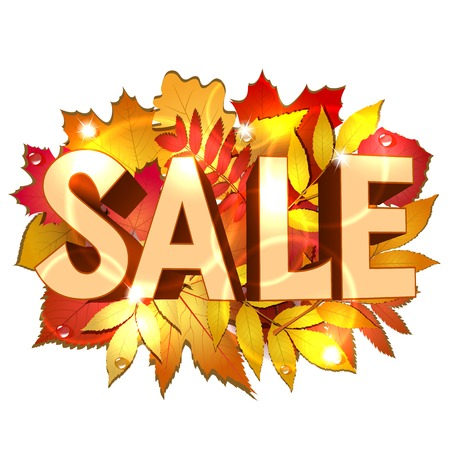 Vector illustration of Sale word for sales promotion. Vector illustration Illustration