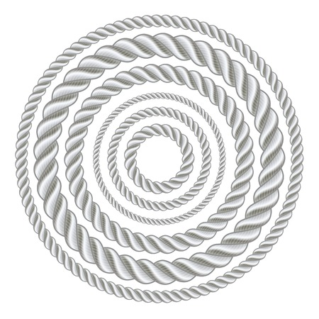 rope vector: Circle rope illustration vector.